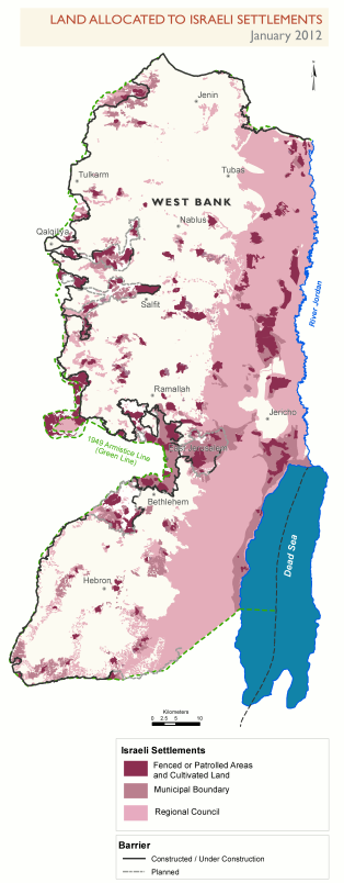 Settlements_allocated_land,_January-2012